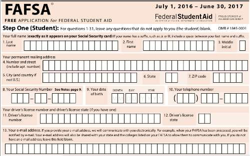 Crazy image inside fafsa printable