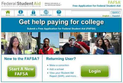 Picture of FAFSA Official Website
