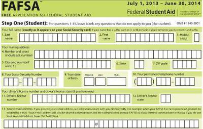 FAFSA Financial Aid Application for College